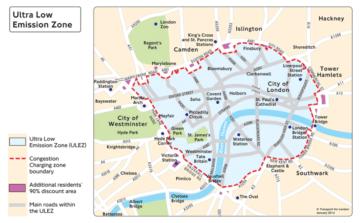 congestion / ULEZ charge zone